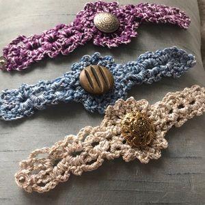Crocheted Cuff Bracelets